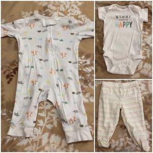 Carter's 3-Piece Mommy Makes Me Happy Set
